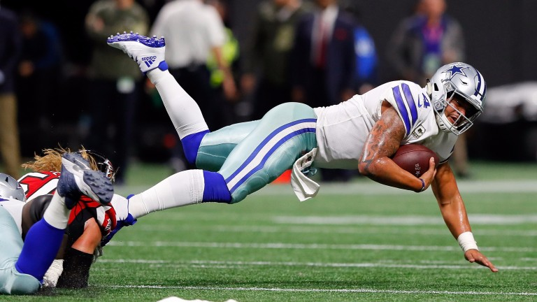 Dallas quarterback Dak Prescott had a miserable night in Atlanta