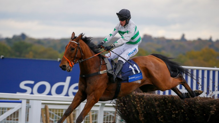 Exitas wins the Byrne Group Handicap Chase at Ascot