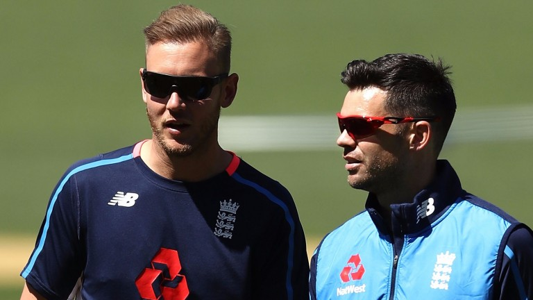 Stuart Broad (left) and James Anderson