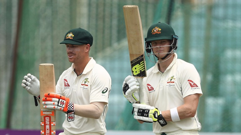 David Warner (left) and Steve Smith have steadied the ship in Melbourne