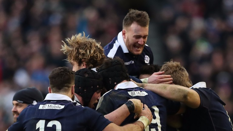 Stuart Hogg and his Scotland teammates have had cause to celebrate