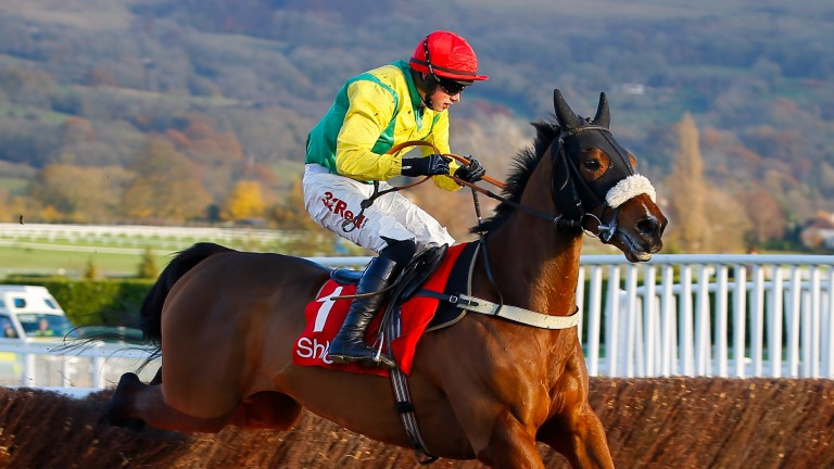 Fox Norton and Bryan Cooper on their way to victory in the Shloer Chase