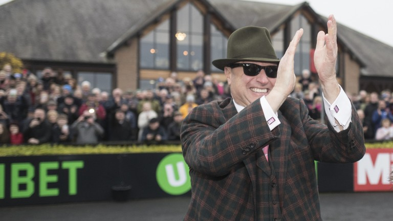 A delighted Rich Ricci after Faugheen's effortless win in the Morgiana Hurdle