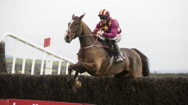 Monalee and Davy Russell head to victory in the beginners' chase