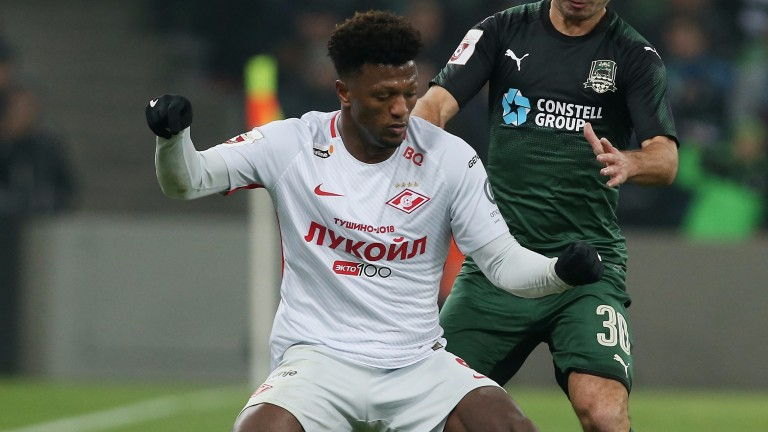 Spartak's Luiz Adriano could open the scoring