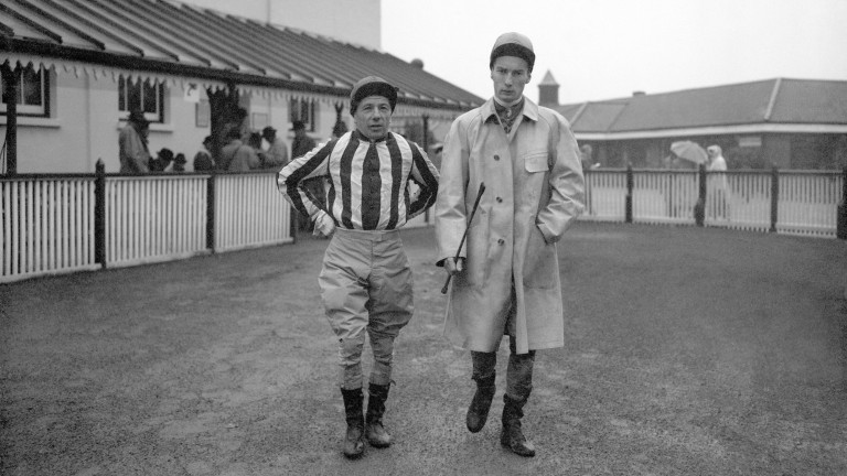 Doug Smith (left) with Lester Piggott