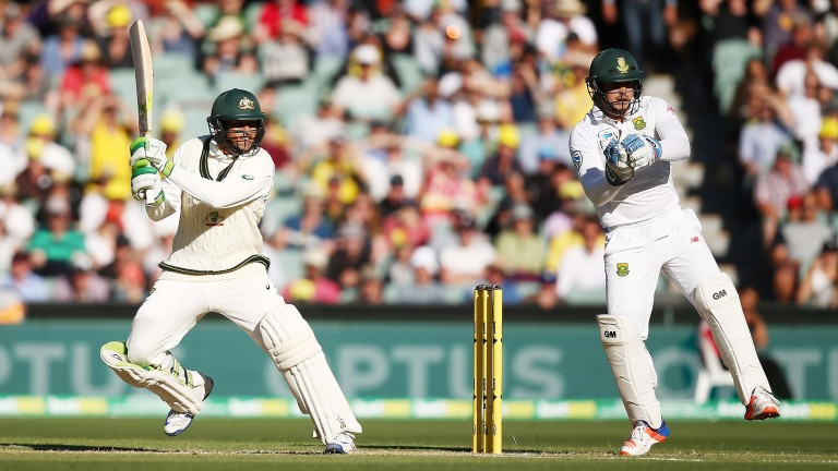 Usman Khawaja showed off his strokeplay in last year's 145 against South Africa in Adelaide
