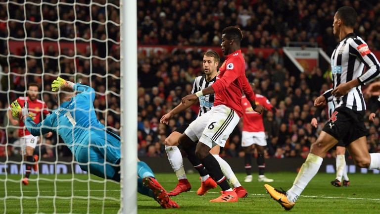 Paul Pogba scored for Manchester United against Newcastle on Saturday