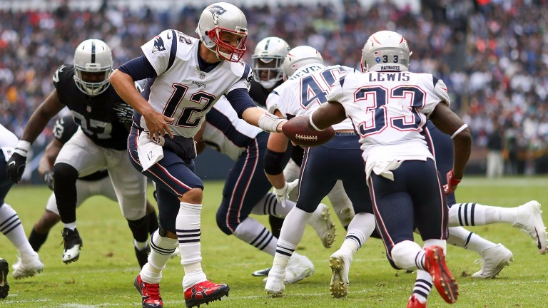 The Patriots won their eighth game of the season against the Raiders