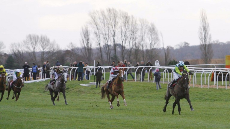 Denman scatters his rivals on his way to glorious victory in the 2007 Hennessy Cognac Gold Cup