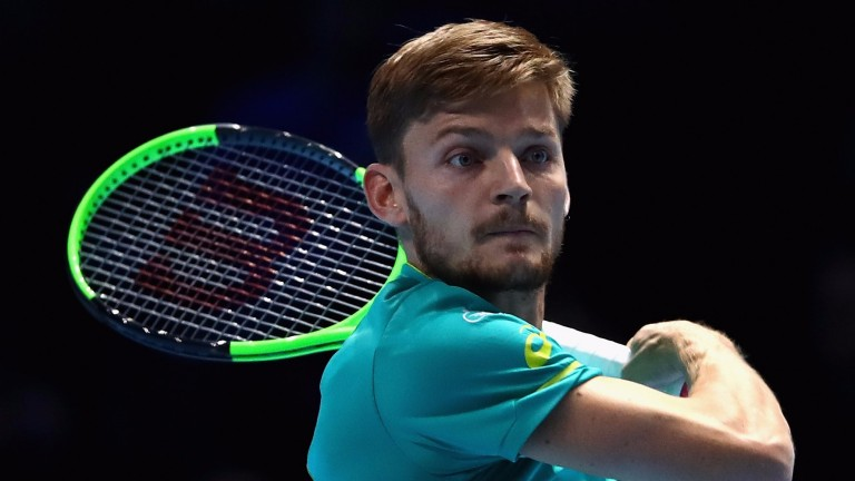 David Goffin of Belgium reached the final of the ATP World Tour Finals