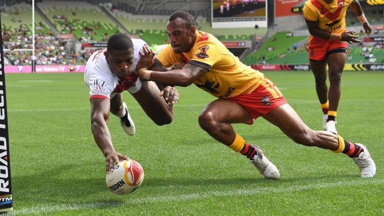 England winger Jermaine McGillvary has starred down under