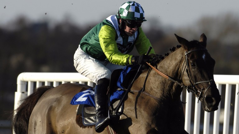Christian Williams winning a novice hurdle on Denman at Bangor in February 2006