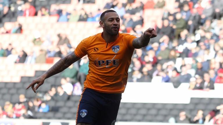 Oldham striker Craig Davies