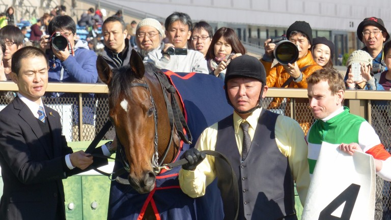 Ryan Moore after Corcovado became leg four of a six-timer at Tokyo on Saturday