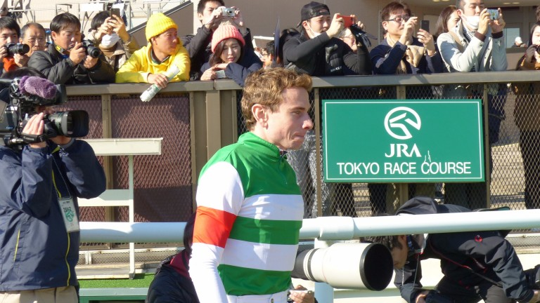 Ryan Moore after riding Corcovado to success at Tokyo on Saturday