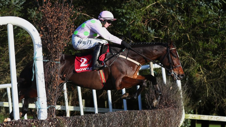 Min (Paul Townend) on the way to winning the 2m4f chase at Gowran