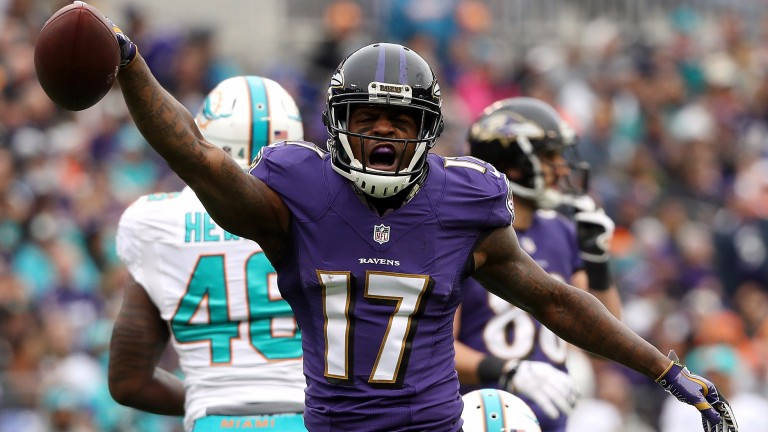 Baltimore wide receiver Mike Wallace