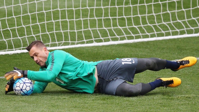 Genk goalkeeper Danny Vukovic in Socceroos training