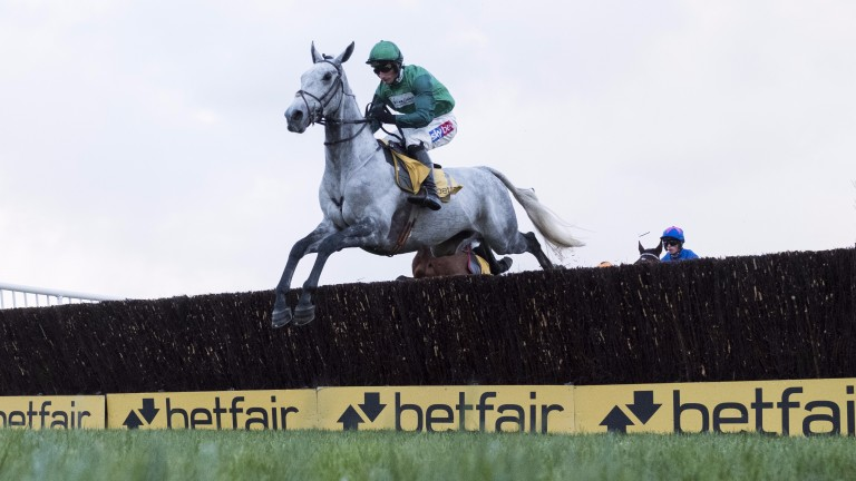 Bristol De Mai and Daryl Jacob fly the first on their way to a breathtaking Betfair Chase success on Saturday