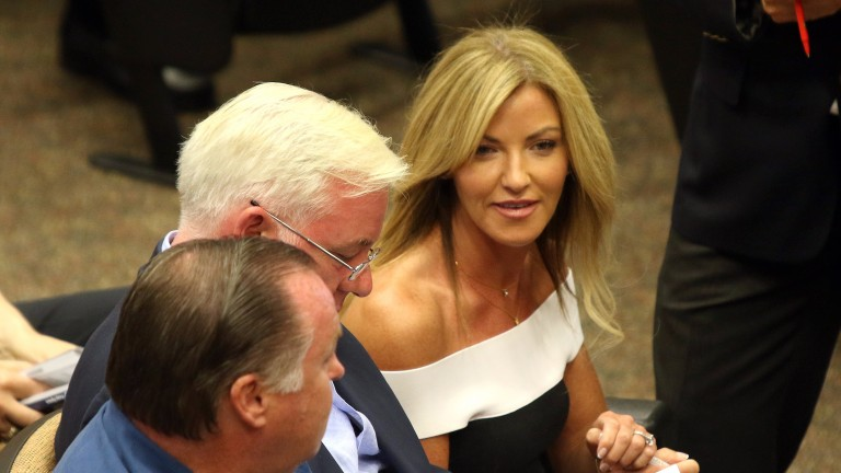 Kerri Radcliffe and Jeremy Noseda at the Fasig-Tipton Saratoga Sale
