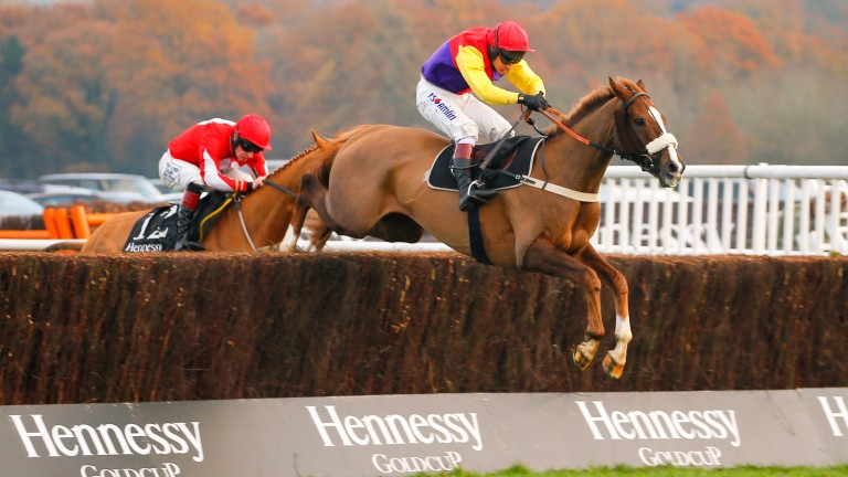 Native River on his way to winning the last Hennessy 12 months ago