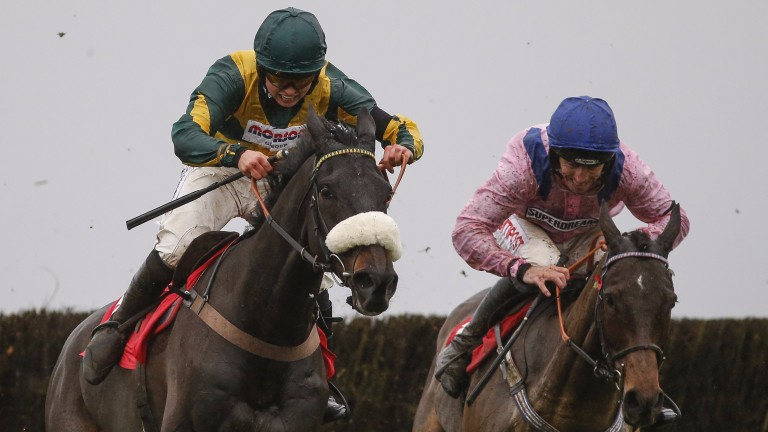 Present Man, Bryony Frost's mount in the Ladbrokes Trophy at Newbury, in winning form at Wincanton