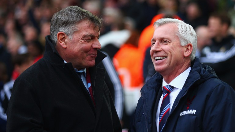 Alan Pardew (right) has taken over at West Brom