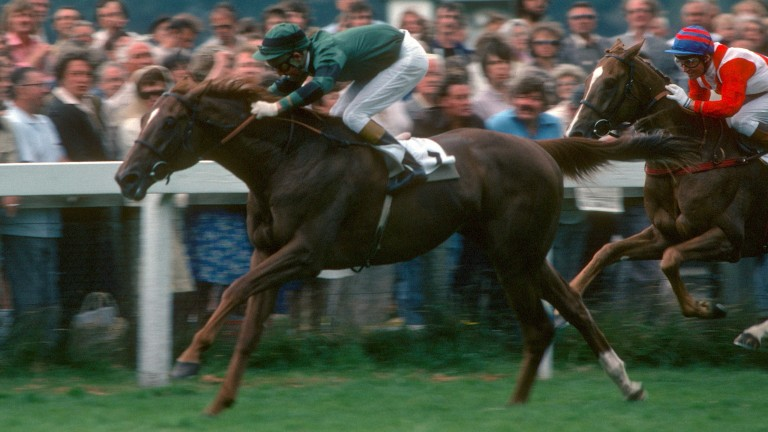Dickens Hill lands the 1979 Coral Eclipse Stakes