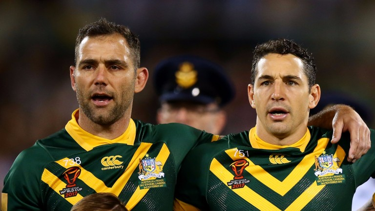 England must find a way of stopping Cameron Smith (left) and Billy Slater