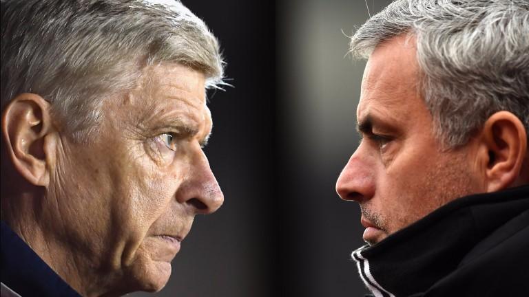 Arsene Wenger's Arsenal face Jose Mourinho's Manchester United