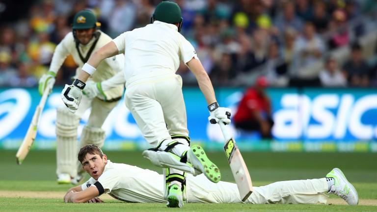England debutant Craig Overton dismissed Steve Smith before Australia rallied on day one