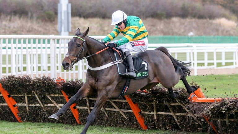 BUVEUR D'AIR (Barry Geraghty) wins the Unibet Fighting Fifth at NEWCASTLE 2/12/17Photograph by Grossick Racing Photography 0771 046 1723