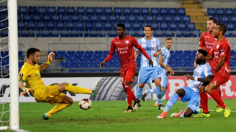 Zulte Waregem in Europa League action against Lazio