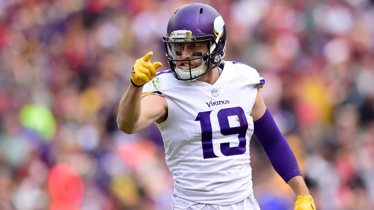 Minnesota wide receiver Adam Thielen has made a big impression this season