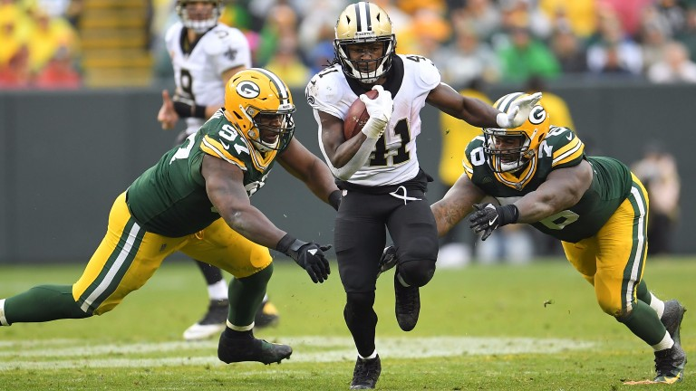 Running back Alvin Kamara is a huge threat for the Saints
