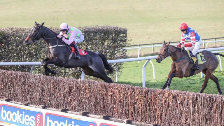 A fine jump by Benie Des Dieux at Carlisle