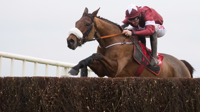 Death Duty and Davy Russell winners of the Drinmore Novice Chase (Grade 1).Fairyhouse.Photo: Patrick McCann 03.12.2017