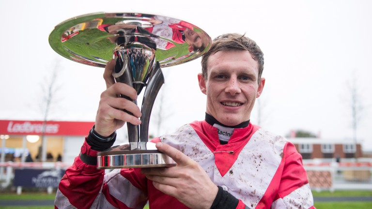 Paul Townend with the Ladbrokes Trophy Newbury 2.12.17 Pic: Edward Whitaker