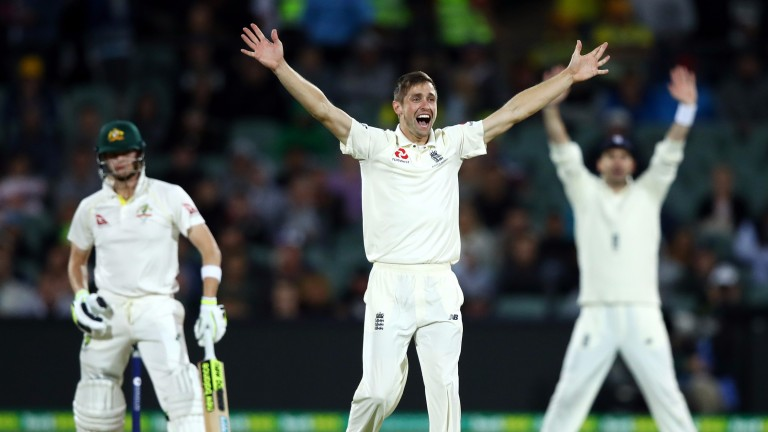 Chris Woakes claimed two wickets in the final session of day three