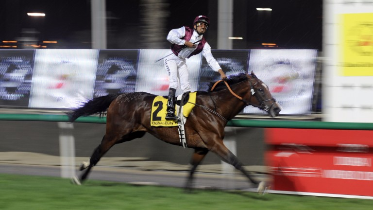 Gladiatorus under Ahmed Ajtebi wins the 2009 Dubai Duty Free