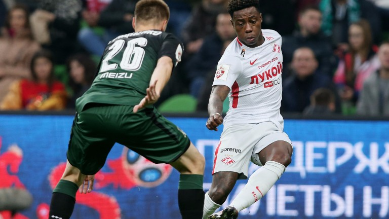 Spartak Moscow's Quincy Promes in their recent excellent win at Krasnodar