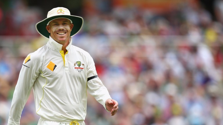 Australian cricketer David Warner is a racing fan