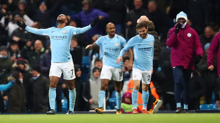 Man City are eight points clear of their Premier League rivals