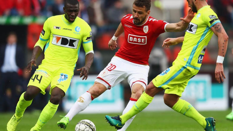 Standard Liege hitman Orlando Sa on the ball