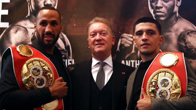 James DeGale, promoter Frank Warren and Lee Selby