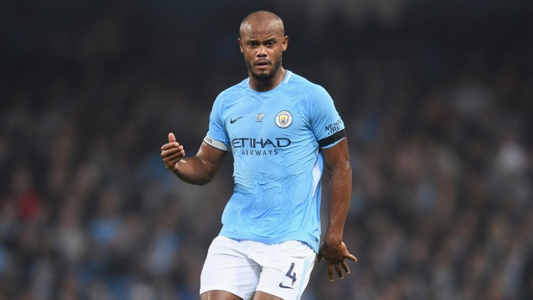City captain Vincent Kompany is a major doubt for the Manchester derby