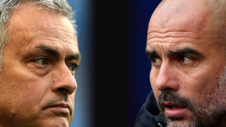 Tactical masterminds Jose Mourinho and Pep Guardiola do battle in the Manchester derby