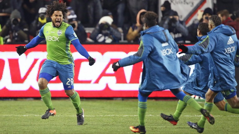 Roman Torres and Seattle Sounders celebrate winning last year's MLS Cup final