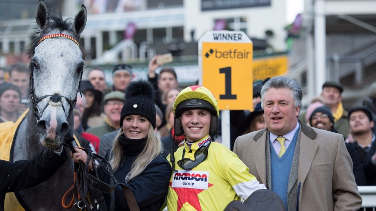 Politologue and his connections after the grey's Tingle Creek victory